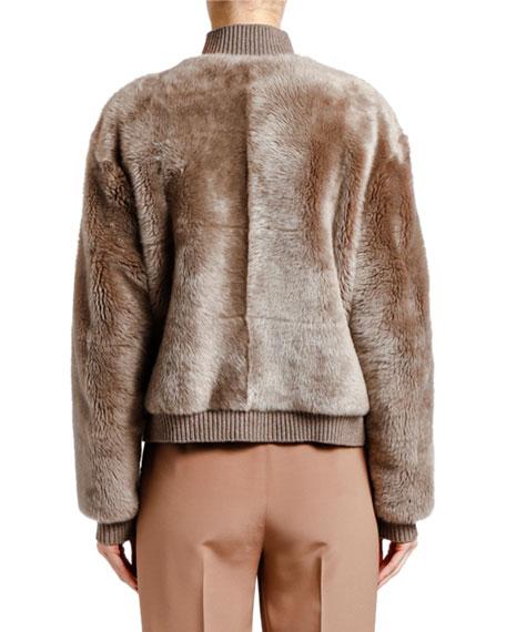 Giorgio Armani Reversible Cashmere & Shearling Bomber Jacket
