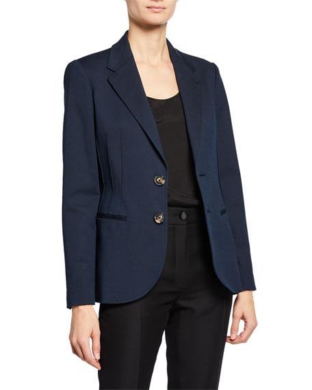 Emporio Armani Two-Button Stretch-Denim Jacket w/ Seaming
