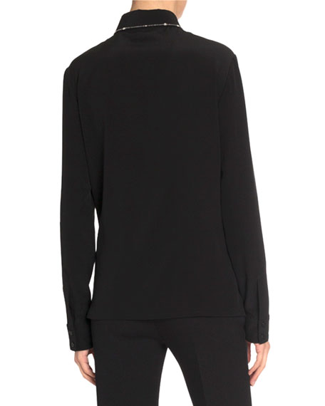 Givenchy Crystal-Embellished Silk Shirt