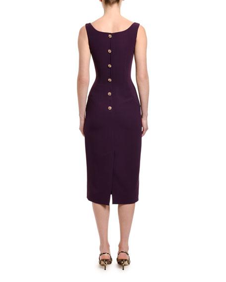 Dolce & Gabbana Cady Jewel-Button Tubino Dress