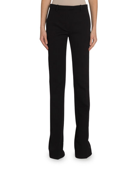 Givenchy Wool Crepe Boot-Cut Trousers