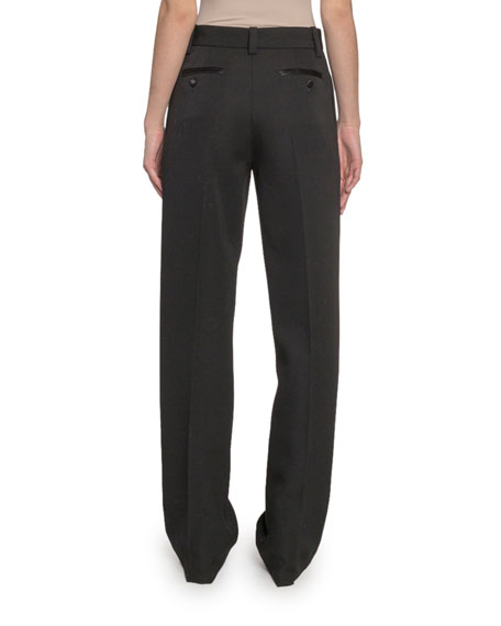 Marc Jacobs Pleated-Front Wool Straight-Leg Pants