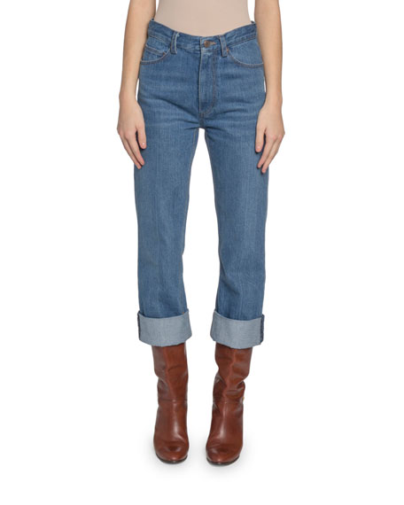 Marc Jacobs (Runway) High-Rise Cuffed Jeans