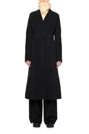 THE ROW Luisa Wool Wrap Coat