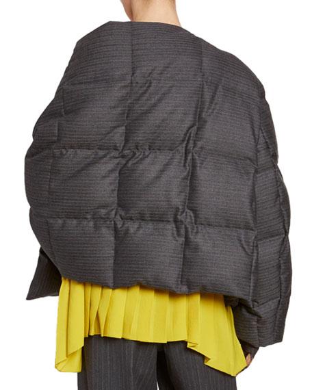 Dries Van Noten Quilted Scarf-Neck Jacket