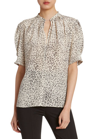 Altuzarra Animal-Print Golden Chain Tunic