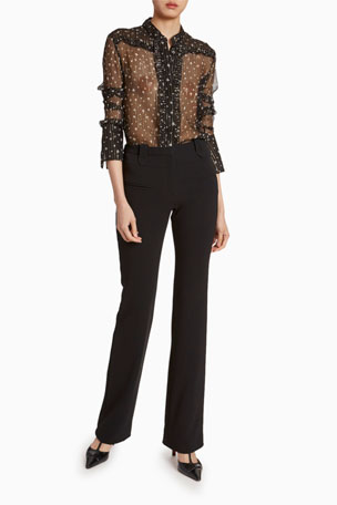 Altuzarra Chica Metallic Silk Georgette Blouse