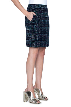 Akris punto Tweed A-Line Skirt