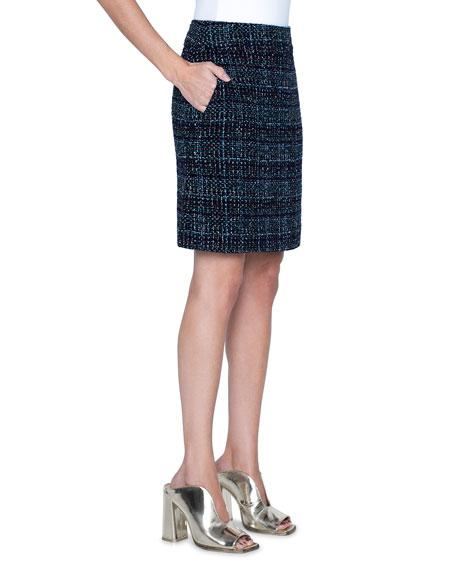 Akris punto Tweed A-Line Skirt