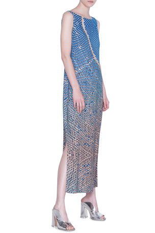 Akris punto Viscose Blend Maxi Dress