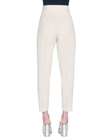 Image 2 of 2: Akris punto Fred Self-Belted Straight-Leg Pants
