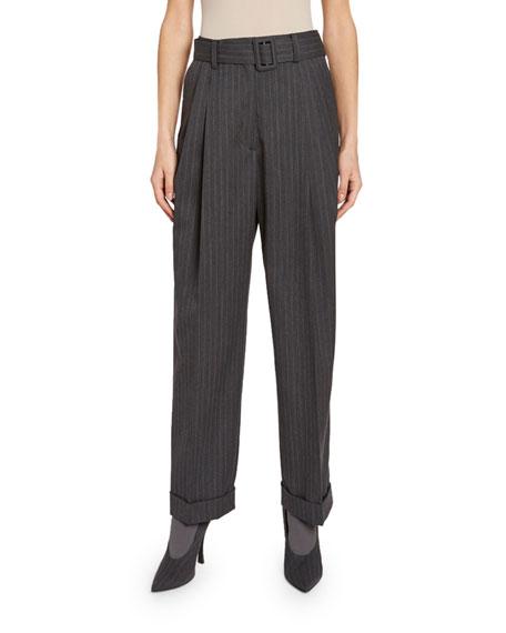Dries Van Noten Pleated Cuffed Pants
