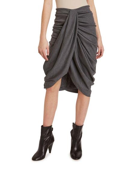 Isabel Marant Datisca Jersey Draped-Front Skirt