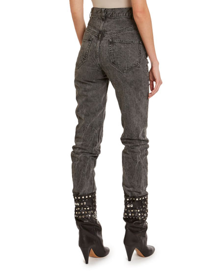 Isabel Marant Dominic High-Rise Acid-Wash Jeans