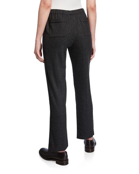Loro Piana Davin Cashmere Flannel Pull-On Pants