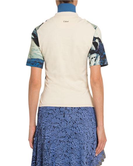 Chloe Landscape -Print Cotton T-Shirt