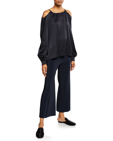 Rosetta Getty High-Rise Wide-Leg Trousers