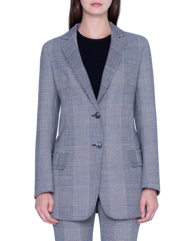 Akris Oversized Prince-of-Wale Mesnwear Jacket and Matching Items & Matching Items