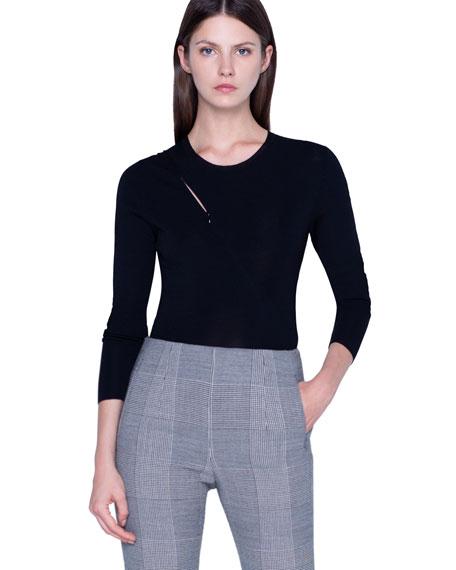 Akris Jersey Zip-Front Sweater