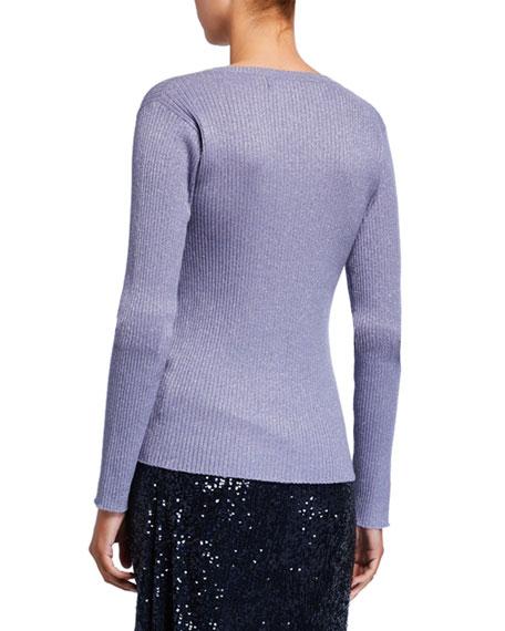 Sies Marjan Shimmer Henley Sweater