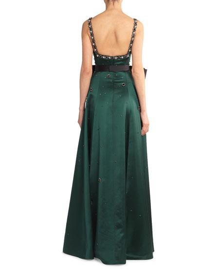Erdem Ravenna Crystal-Embroidered Full-Skirt Gown