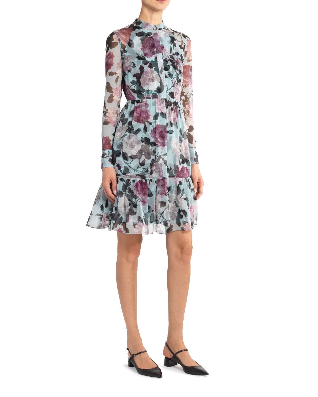 d311d599a45 Devika Floral Print Chiffon Shirtdress