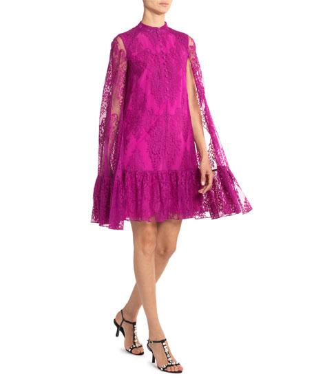 Erdem Constantine Lace Cape Dress
