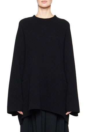 THE ROW Laurlyn Wool-Cashmere Knit Tunic