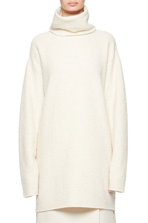 THE ROW Gene Cashmere/Silk Funnel-Neck Sweater