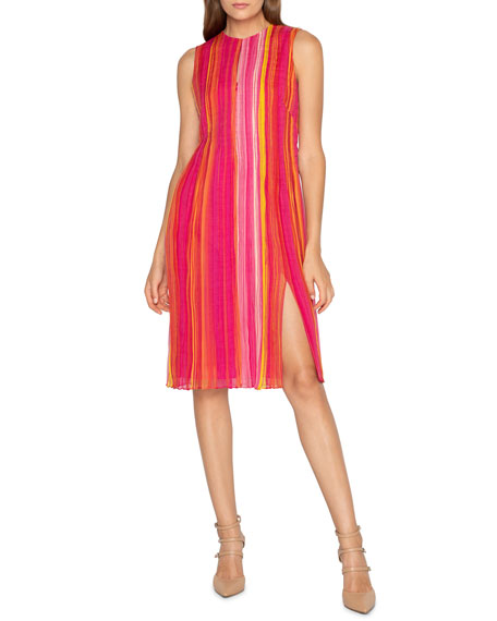 Akris Striped Silk Georgette Dress