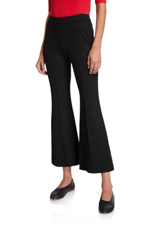Rosetta Getty Cropped Flare-Leg Trousers