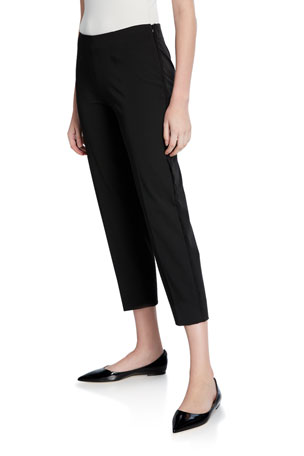 Piazza Sempione Audrey Scalloped-Seam Crop Pants