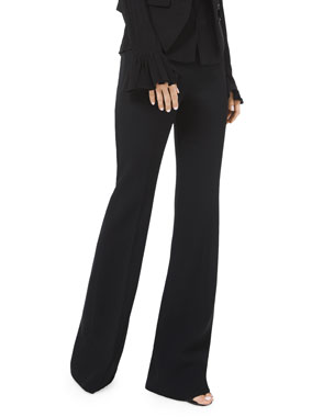 Michael Kors Collection Double Crepe Sable Flare Pants