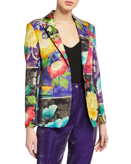 Etro Japanese Floral Brocade Jacket
