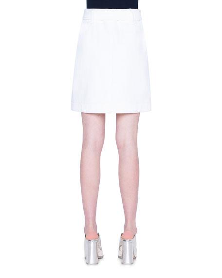 Akris punto Belted Gabardine Skirt