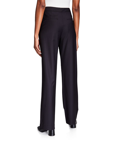 Image 2 of 3: Co Wool Straight Leg Trousers