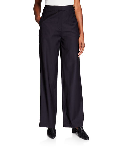 Image 1 of 3: Co Wool Straight Leg Trousers
