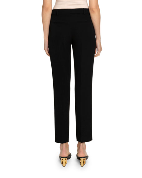 Image 2 of 2: Givenchy Grain de Poudre Cigarette Trousers