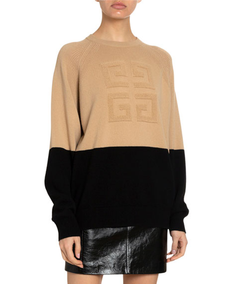 Givenchy 4G Cashmere Logo-Embroidered Sweater