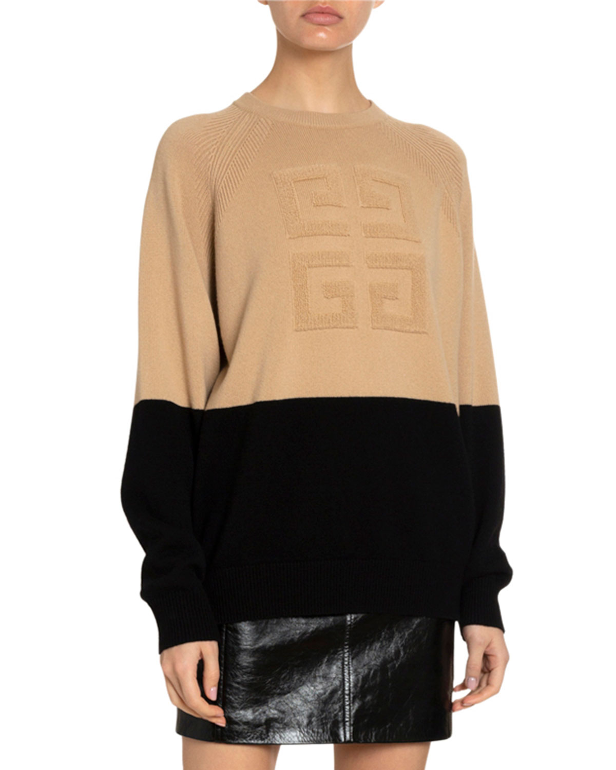 Givenchy Sweaters 4G CASHMERE LOGO-EMBROIDERED SWEATER
