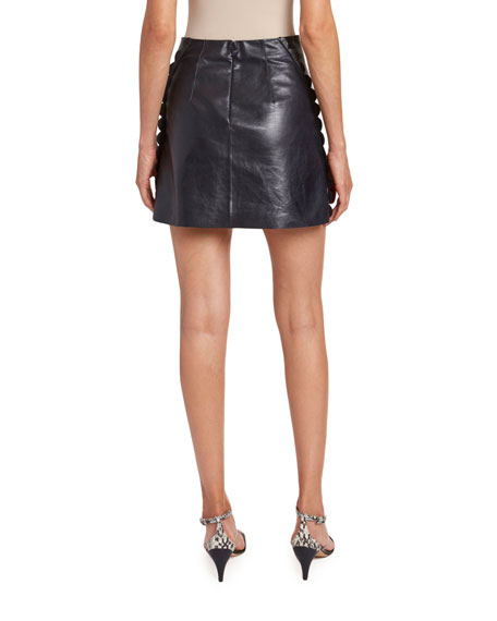 Image 2 of 2: Chloe Baby Calfskin Scalloped Skirt