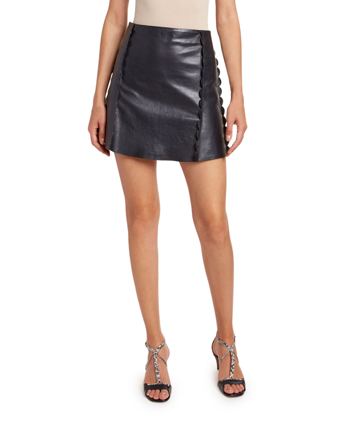 Chloe Baby Calfskin Scalloped Skirt
