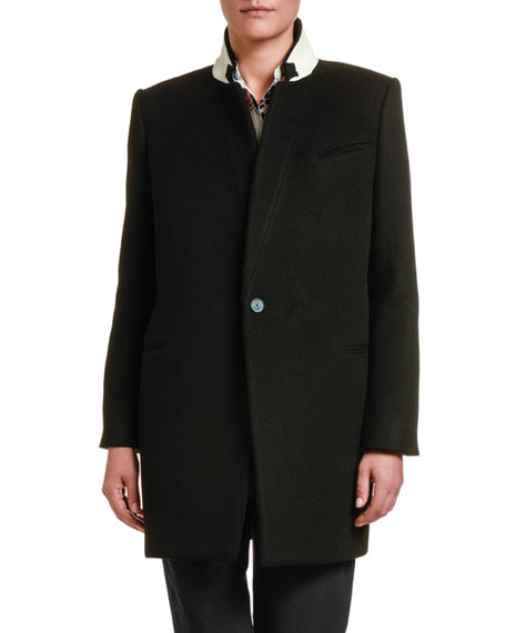 Image 1 of 2: Stella McCartney Double-Face Wool Coat