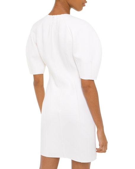 Michael Kors Collection Dolman-Sleeve Crepe Sheath Dress