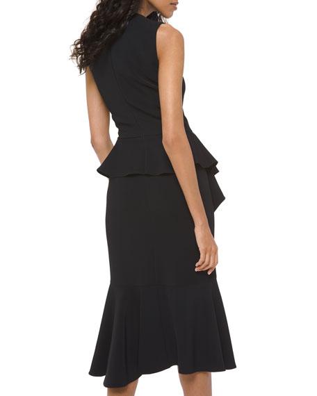 Michael Kors Collection Asymmetric Cascading Sheath Dress