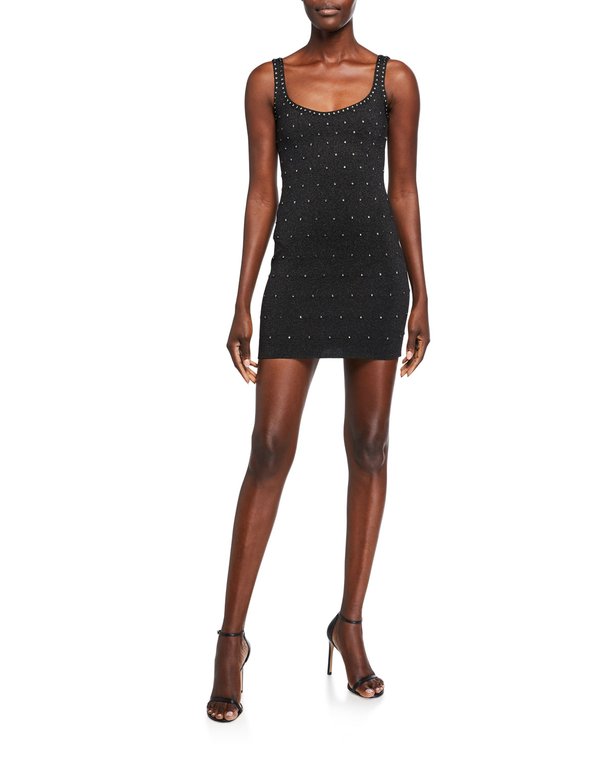 Herve Leger Studded Shimmered Bodycon Dress