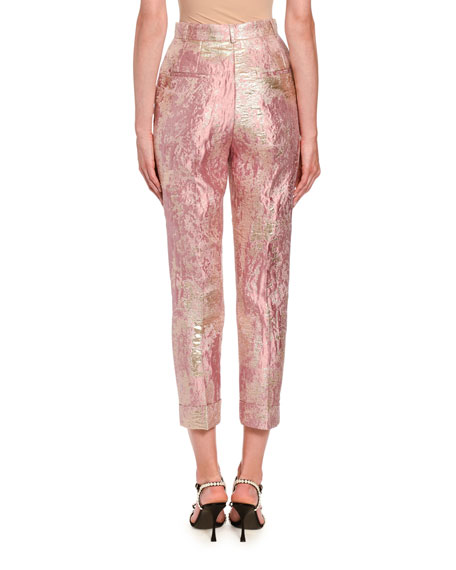 Image 2 of 3: Dolce & Gabbana Jacquard Lame Slim Leg Pants