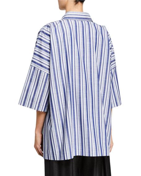 Eskandar Wide Short-Sleeve Shirt