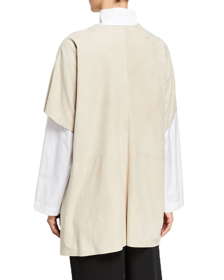Eskandar Raw-Edge Sheep Leather Tabard