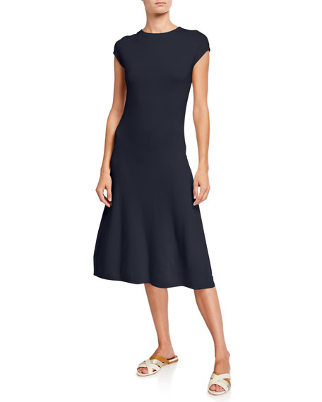 Loro Piana Cashmere Cap-Sleeve Dress